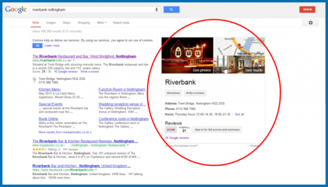 Screenshot of a local business search on Google.